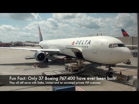 Delta Air Lines Boeing 767-400 N827MH DL 66 Atlanta-Zurich Economy Class Trip Report