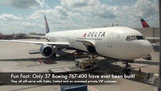 Delta Air Lines Boeing 767-400ER N827MH DL 66 Atlanta-Zurich Economy Class Trip Report