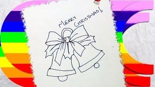 how to draw cartoon christmas bells Thumbnail