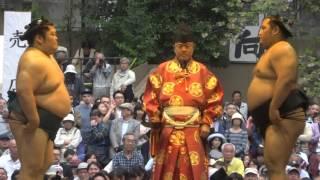 20160418 靖國神社奉納相撲 豪風vs松鳳山.