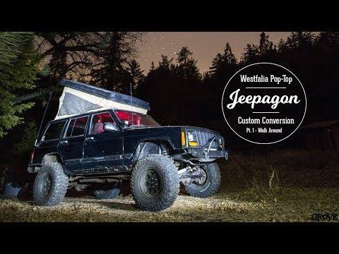 VW Westfalia Pop-Top on a Jeep Cherokee XJ
