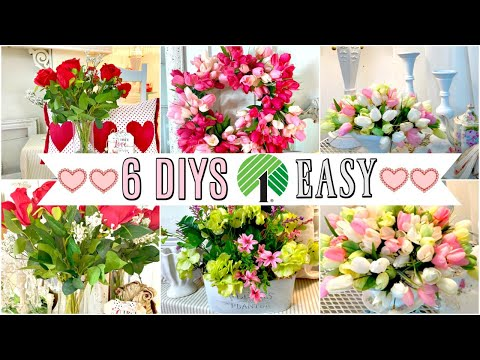 ????6 DIY DOLLAR TREE DECOR CRAFTS VALENTINES SPRING BRIDAL????Home Sweet Home ep.15 Olivias Romanti