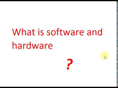 Difference Between Hardware And Software In Urdu/hindi
