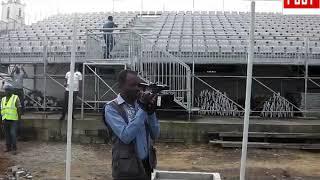 visite du stade akwa  septembre 2019 par Vincent Kamto