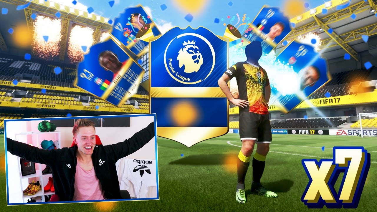 I PACKED 7 BPL TOTS!! 🔥🎉- INSANE £500+ FIFA 17 TOTS PACK ...
