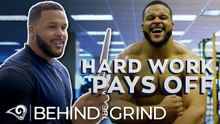 Aaron Donald's Workout Dungeon & Knife Training (S1, E3) | Rams Behind the Grind