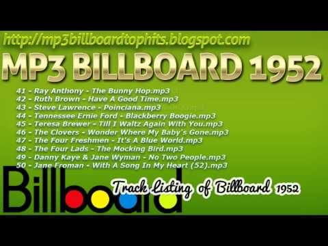 mp3 BILLBOARD 1952 TOP Hits mp3 BILLBOARD 1952