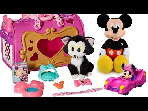 Learn Colors with Disney Jr. Minnie Mouse's Cat Figaro Kitty Pet Carrier | Fizzy Fun Toys