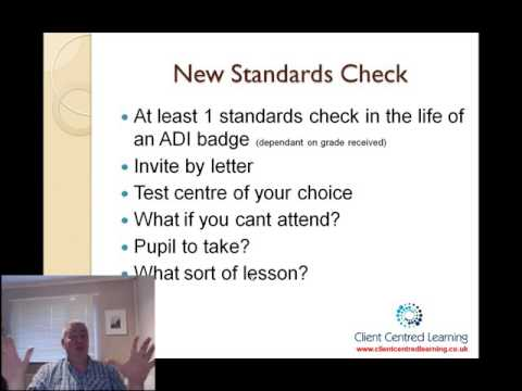 Standards check overview