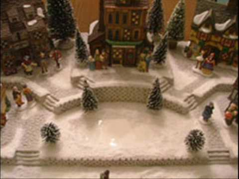 Christmas Village Platforms.Dept 56 Christmas Village Display Candy Cane Lane Youtube