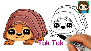 How to Draw Tuk Tuk | Raya and The last Dragon