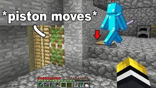 I found this kids underground Minecraft base.. then his redstone exposed a secret room!