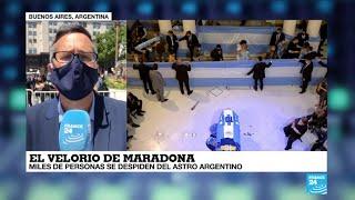 La Vuelta al Mundo: el velorio de Diego Armando Maradona, un asunto global