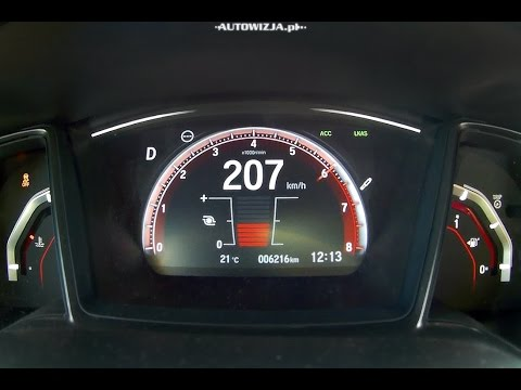 Honda Civic 1.5 VTEC Turbo CVT 182 hp acceleration 0 100 km h, 0 200 km h, 0 400 m