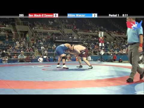 Fargo 2012 285 Round 1: Ben Mauk-O`Connor (Illinois) vs. Hildev Manzur (California)