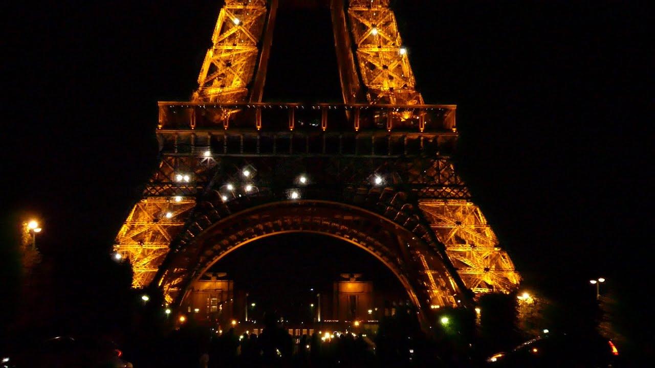 paris 2 eiffel tower promenade view of sparkling lights youtube