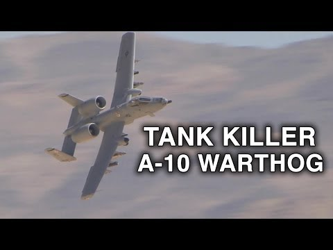 A-10 Warthog in Action - Avenger Autocannon, Rockets Live Fire