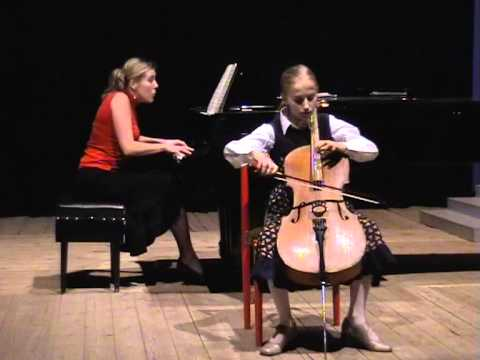 10 year-old MARGARITA BALANAS (cello) Popper Gavotte No. 2 in D Major