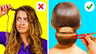 FUNNY HAIR HACKS THAT ARE EXTREMELY HELPFUL || 5-Minute Recipes For Your Hair!