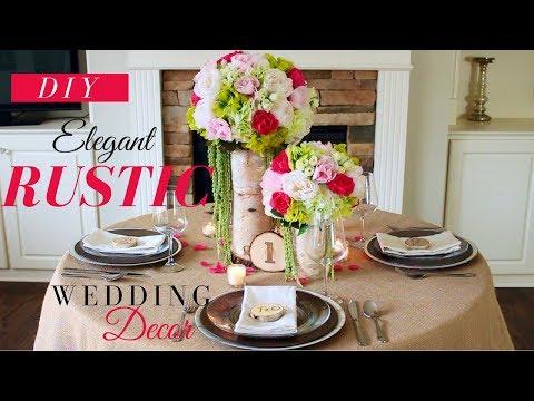 DIY ELEGANT RUSTIC WEDDING DECORATIONS | RUSTIC WEDDING CENTERPIECE