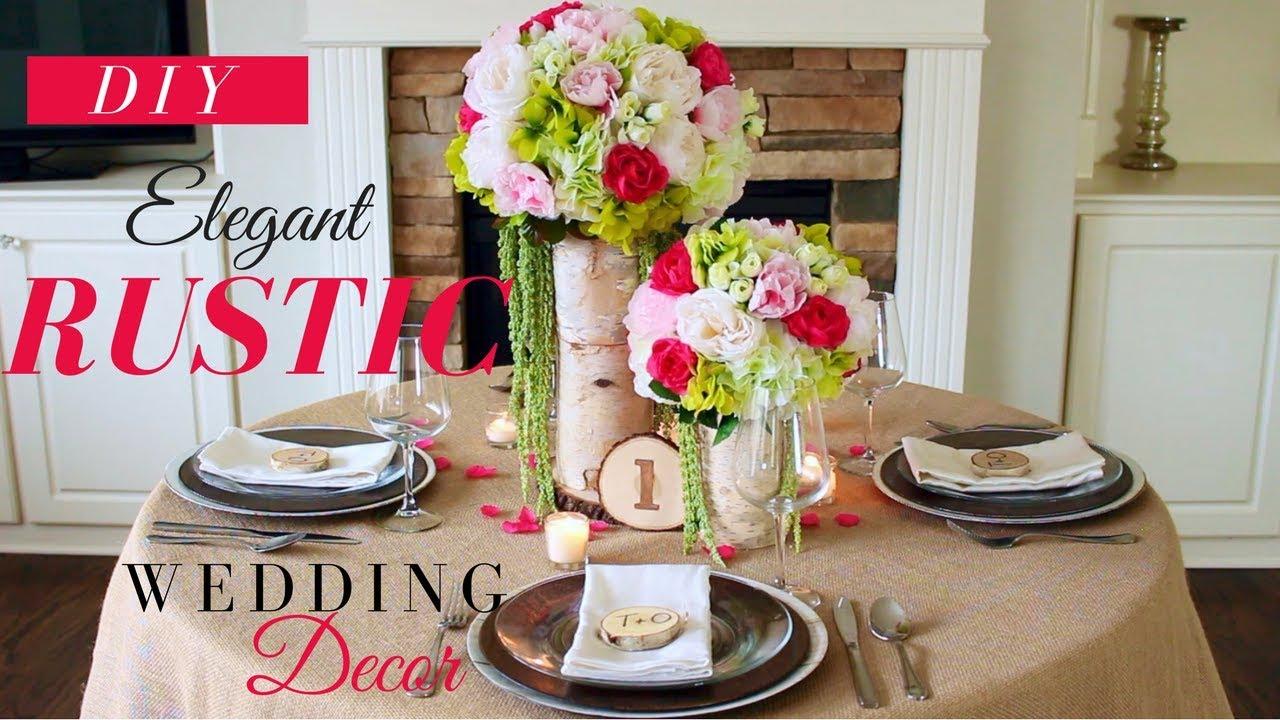 DIY ELEGANT RUSTIC WEDDING DECORATIONS | RUSTIC WEDDING ...