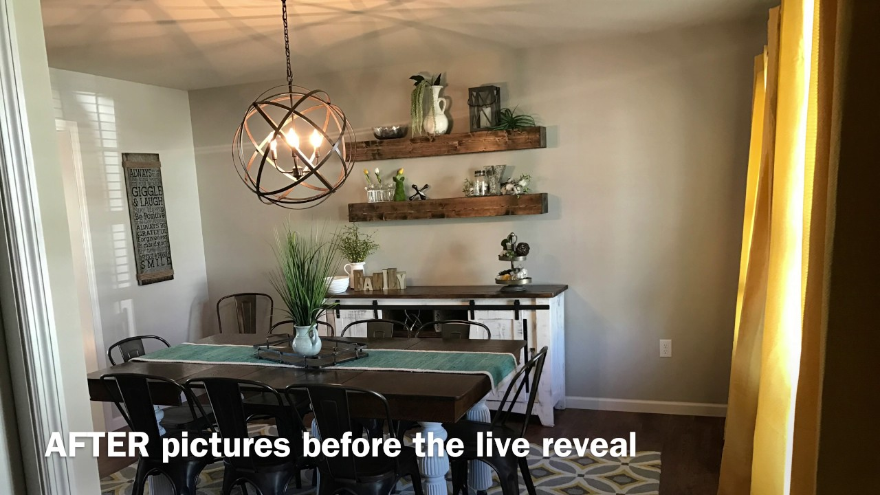 Interior redesign dining room transformation