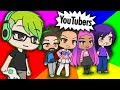 Creating YouTubers in Gacha life (Im in the game?!)