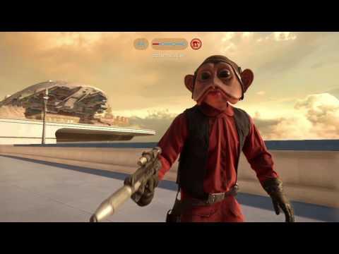 Star Wars Battlefront: Nien Nunb gameplay on Bespin DLC