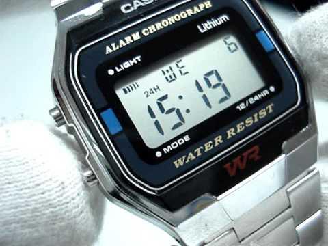 Обзор и настройка часов Casio Retro Watches A163WA-1QGF