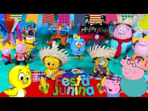 Galinha Pintadinha Festa Junina Noite de São João -Fantasias Infantil Brinquedos Pintinho Amarelinho