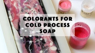 Colorants Available for Cold Process Soap