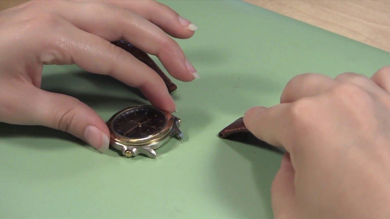 59c4a76738b0d How to Change a Leather Watch Band in a Case without Holes - YouTube