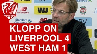 Liverpool 4-1 West Ham | Jurgen Klopp Post-Match Press Conference
