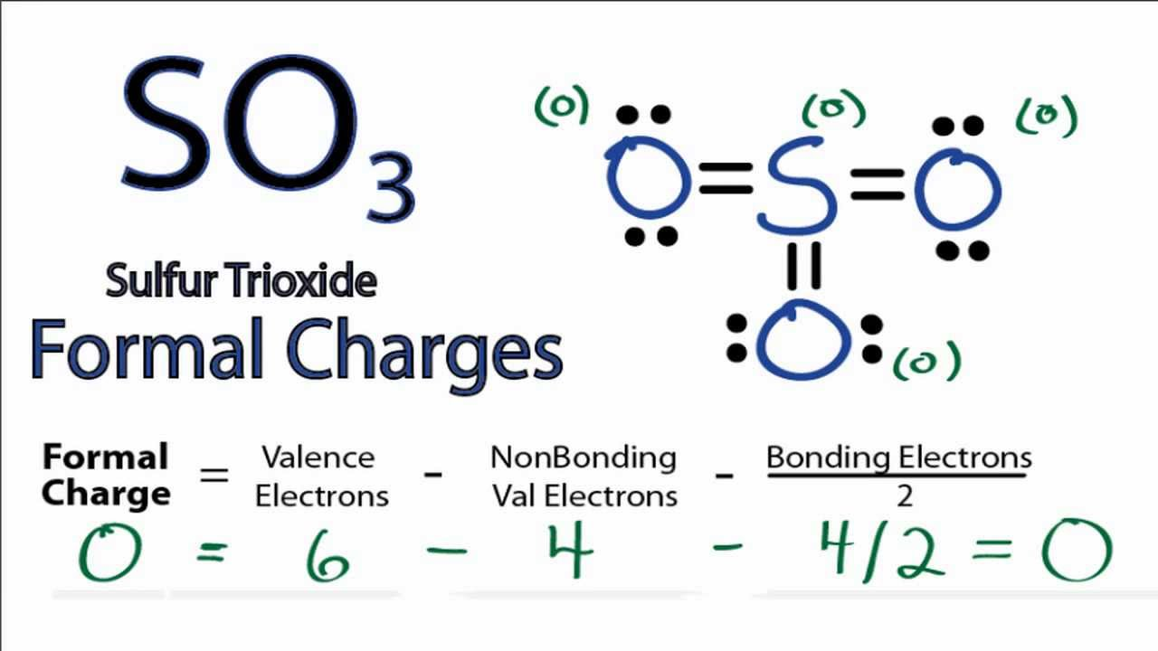 Calculating SO3 Formal Charges: Calculating Formal Charges