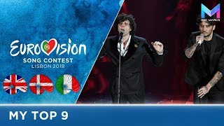 Eurovision 2018 - MY TOP 9 (so far) | & comments