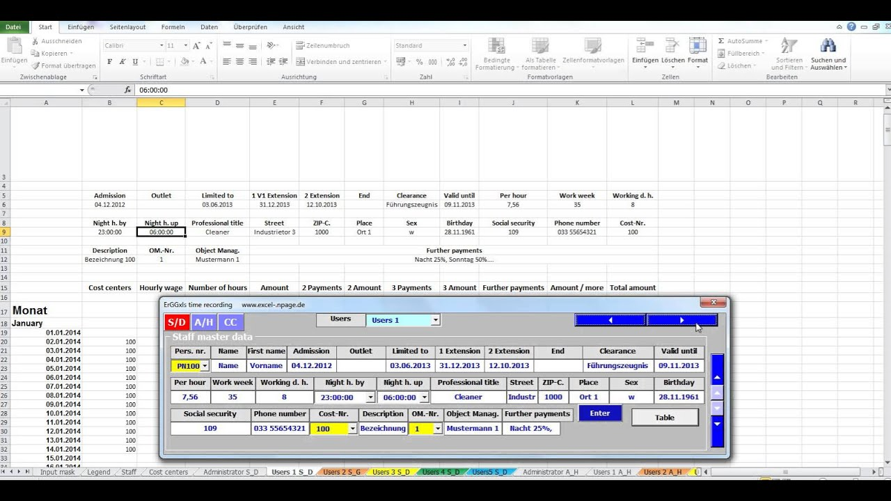 free employee time sheet tracker template - Time Card Tracker