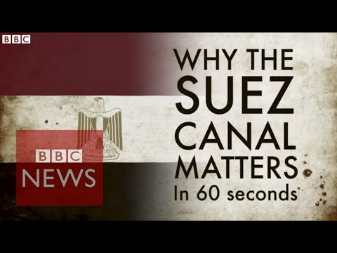 Why is the Suez Canal a big deal? Explained in 60 secs - BBC News