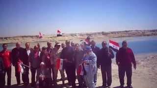 وفد من الاكاديمية العربية للنقل البحرى فى زيارة قناة السويس الجديدة مارس 2015