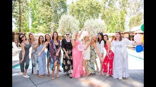 Tori Spelling's Birthday Party | Poolside Crafting + GIVEAWAY!
