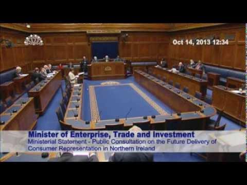 ETI Minister announces public consultation on the future delivery of consumer representation.