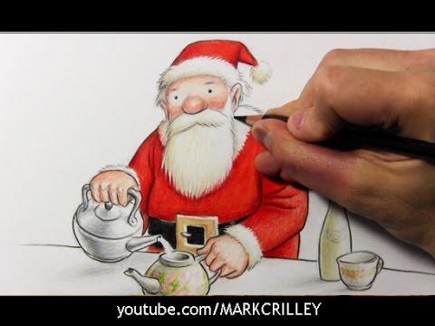 サンタクロースのイラスト絵の描き方☆34種!クリスマス☆書き方