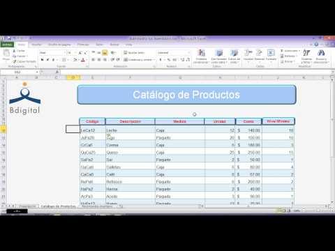 Como administro los inventarios en Excel. de YouTube · Duración:  10 minutos 54 segundos