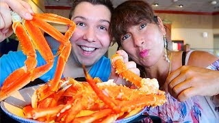 Red Lobster King Crab Legs With My Mom • MUKBANG