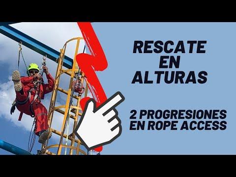 RESCATE  EN ALTURAS 🚒 Cómo se hacen 2 progresiones