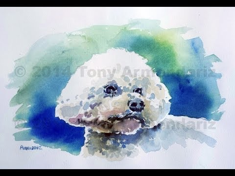 Watercolor demo of dog tony armendariz youtube for How to paint a portrait in watercolor