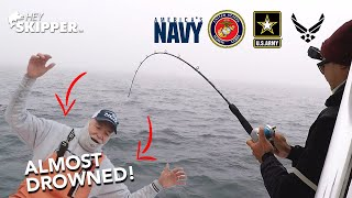 What a crazy day...(Charter fishing w/ Military Vets)
