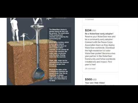 Getting Water From Thin Air With A Wind Turbine
