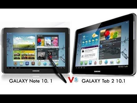 Сравнение Samsung Galaxy Note 10.1 и Samsung Galaxy Tab 2 10.1 Что выбрать??