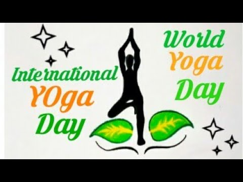How To Draw Yoga Day Coloring Poster Step By Step Special For Kids Easy World Yoga Day Youtube