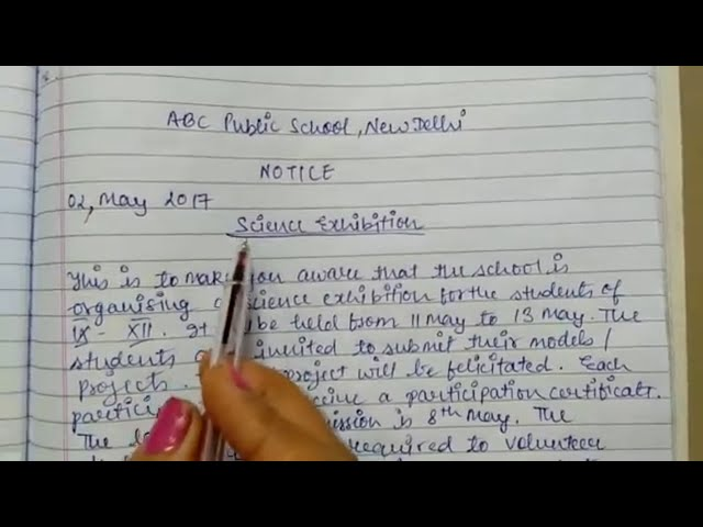 How to write Notice - Tips of Notice Writing with format and a sample